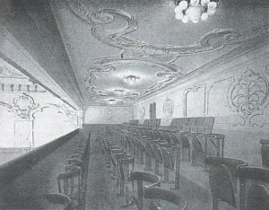 La galleria del Cinema Ambrosio, 1914.