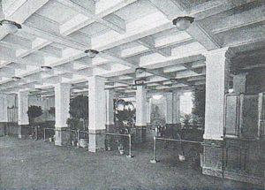 L'ingresso del Cinema Ambrosio, 1914